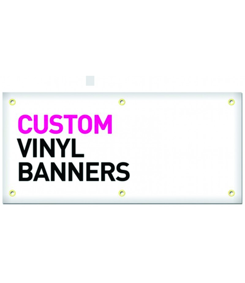 Banner - Size in feet (HxW) 2'X4'