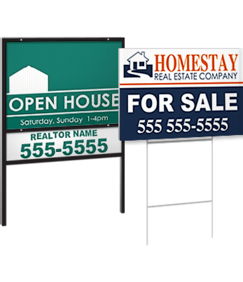 "Real Estate Sign - Full Color Print   18"" x 24"""