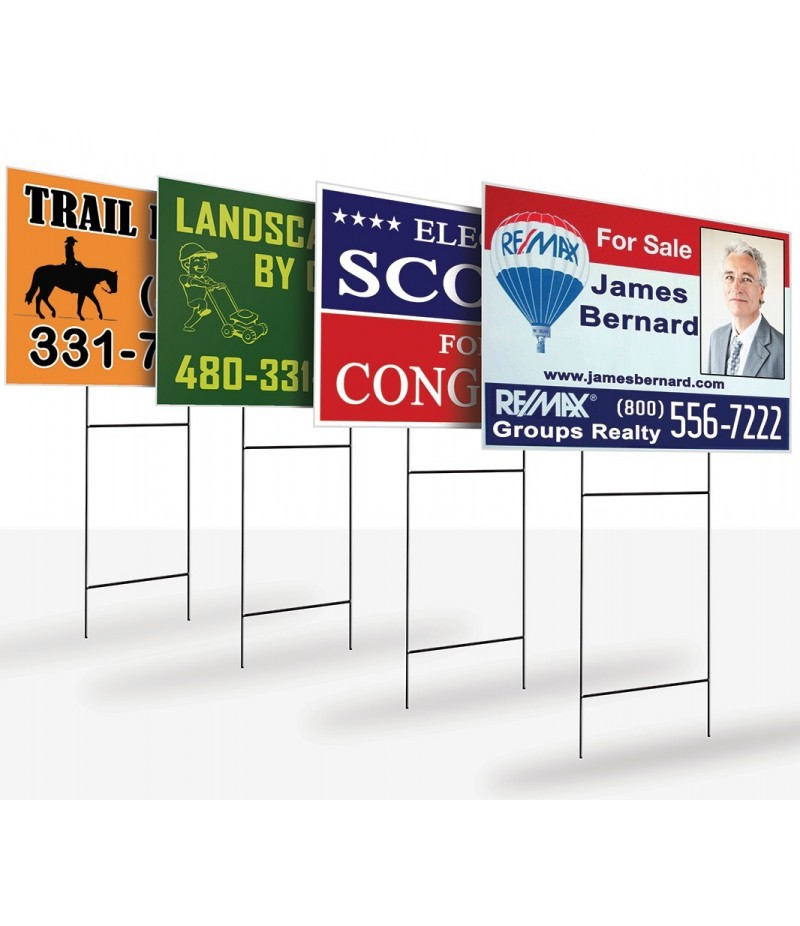 "Yard Sign - Full Color - 1 Side - Size in Inches (WxH)  24""x 18"""